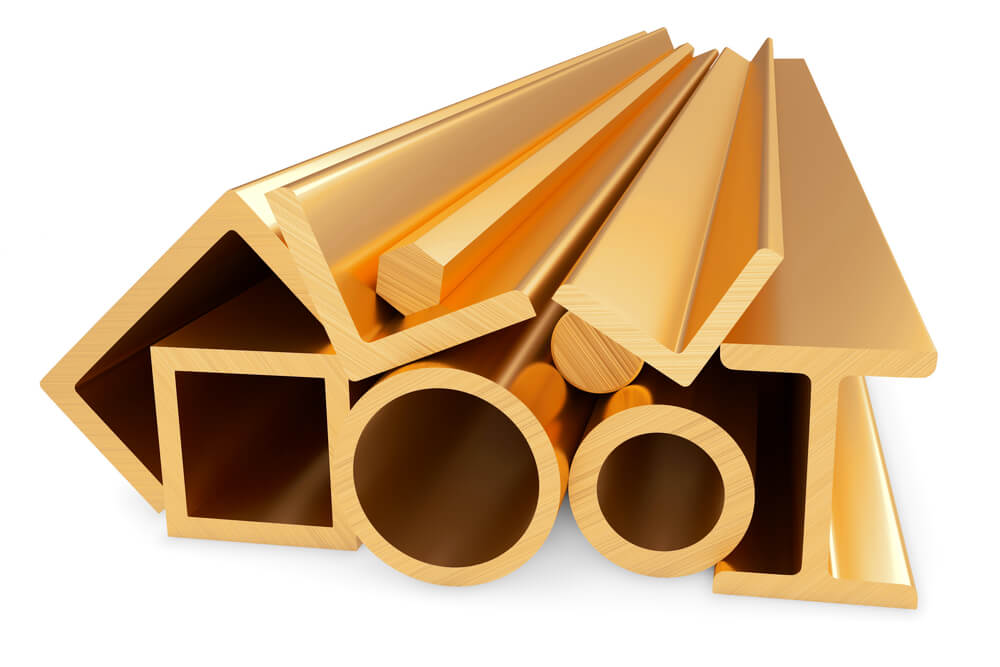 Brass Profiles- Extrusions, Tees, Channels, and more.