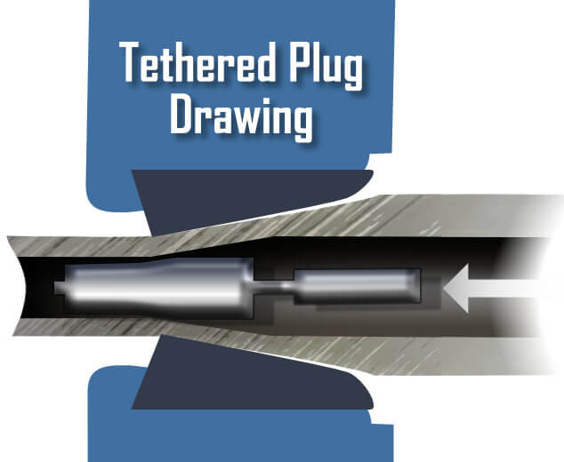 DOM Tethered Plug Drawing or semifloating
